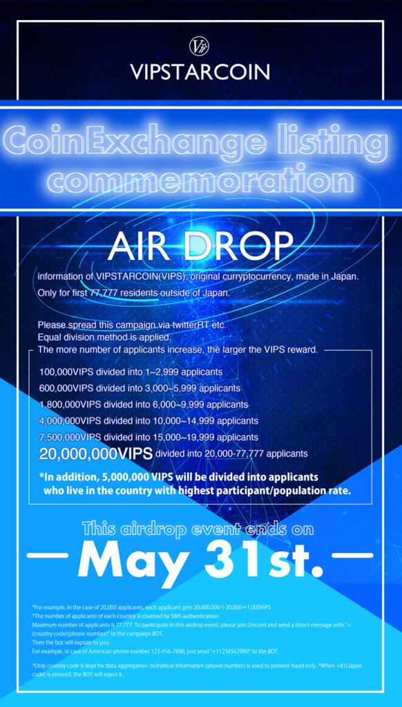 International Airdrop Event started