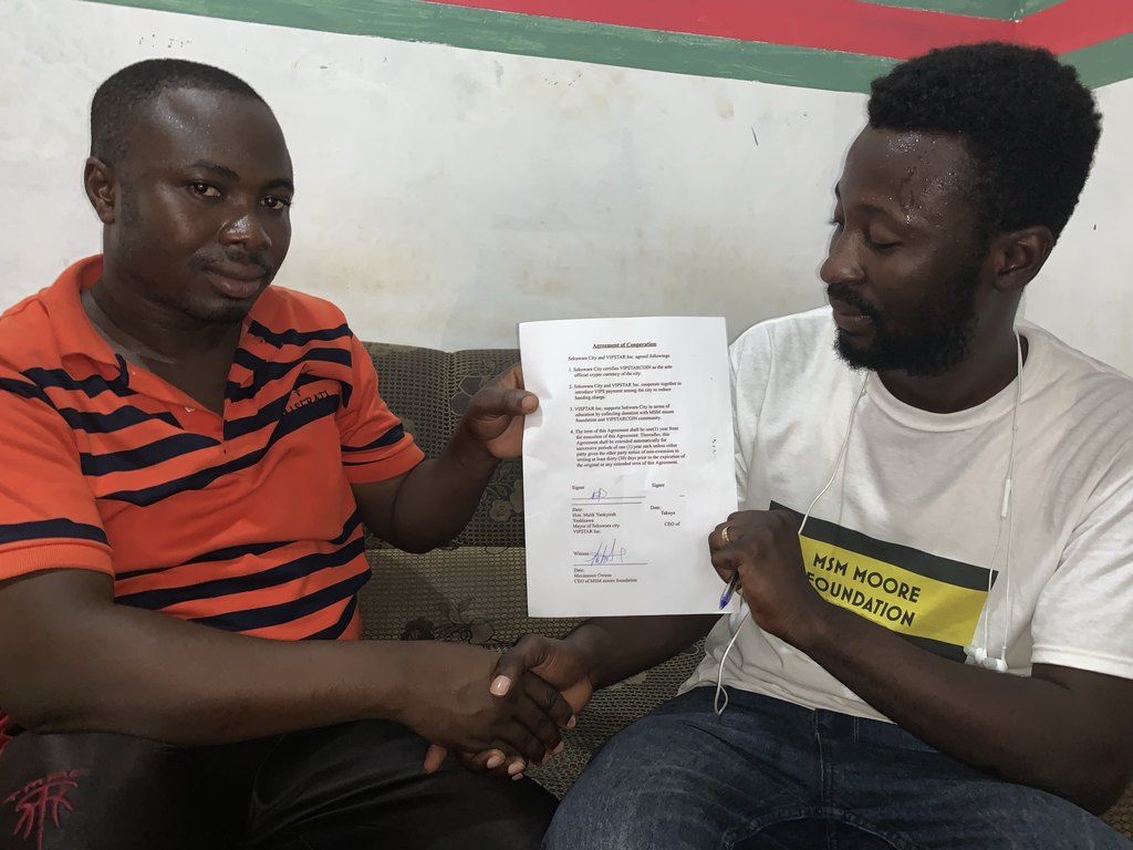 Notice of Agreement for Cooperation with the City of Sekruwa,Ghana (tentative)