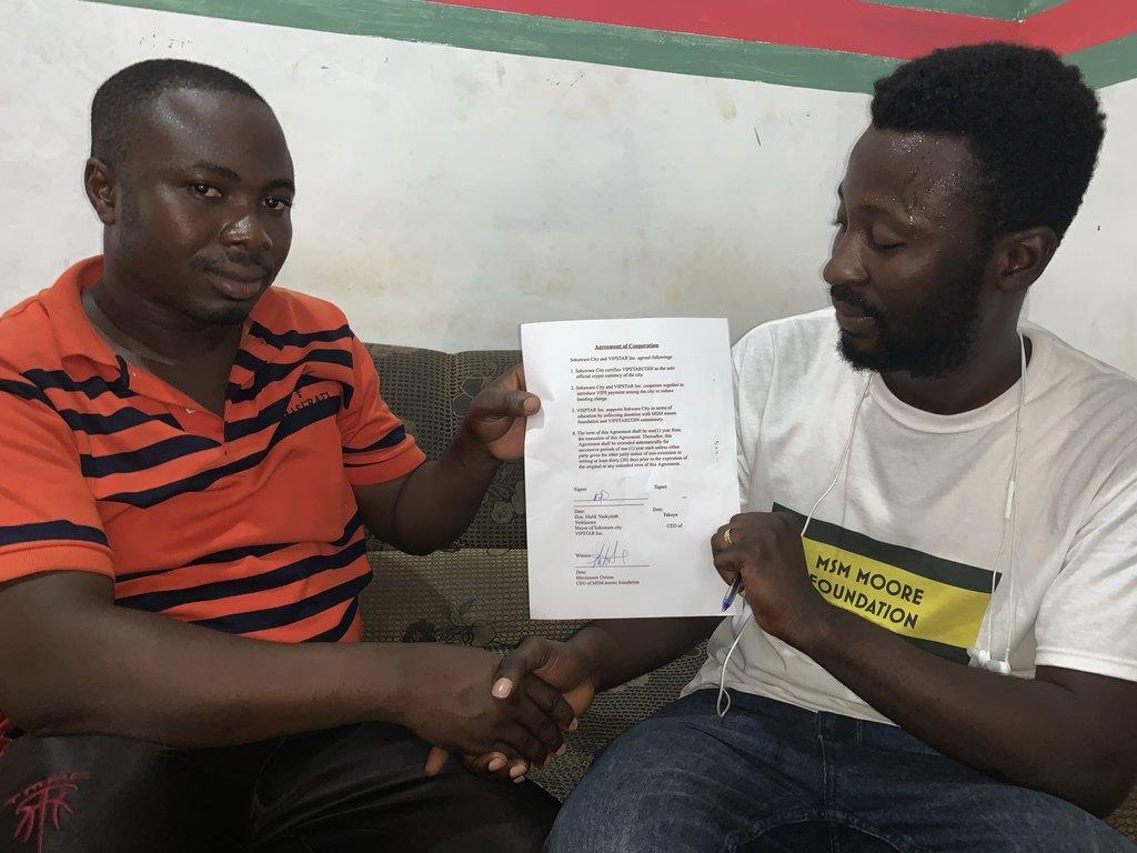 ガーナ共和国Sekruwa市との協力に関する合意書締結のお知らせ(暫定)